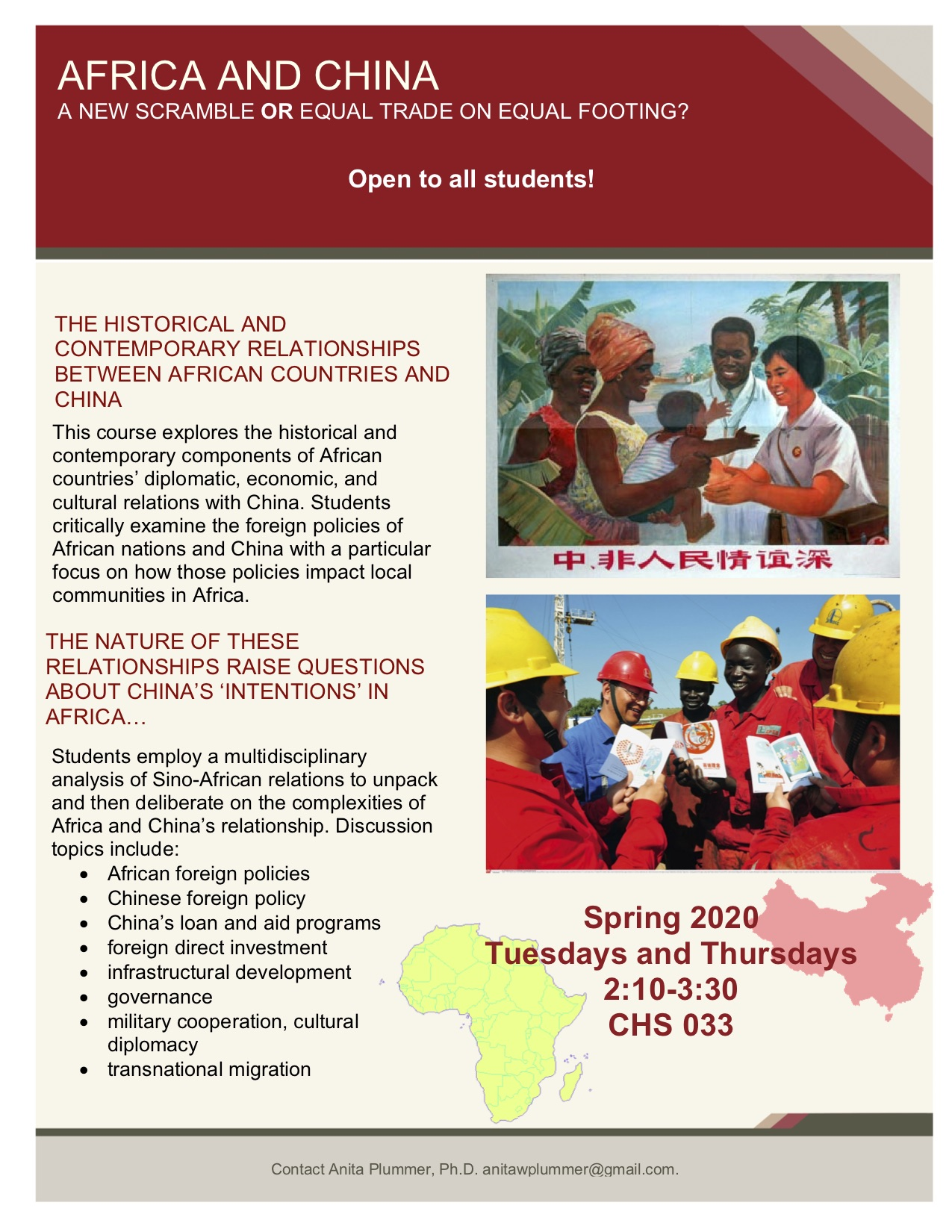 China Africa flyer Spring 2020